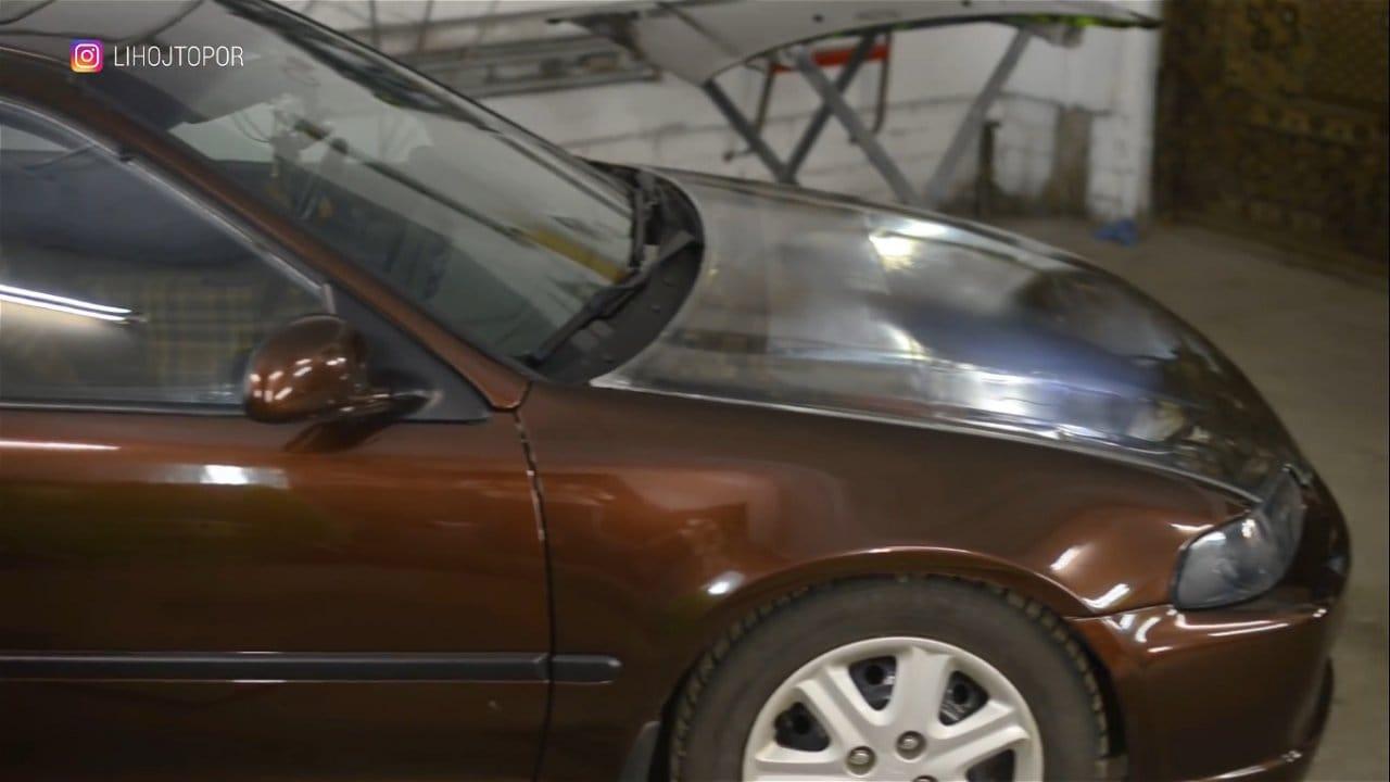 Прозрачный капот из эпоксидки для Honda Civic