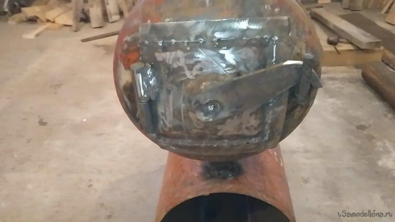 Печь из газовых баллонов. Буржуйка в гараж