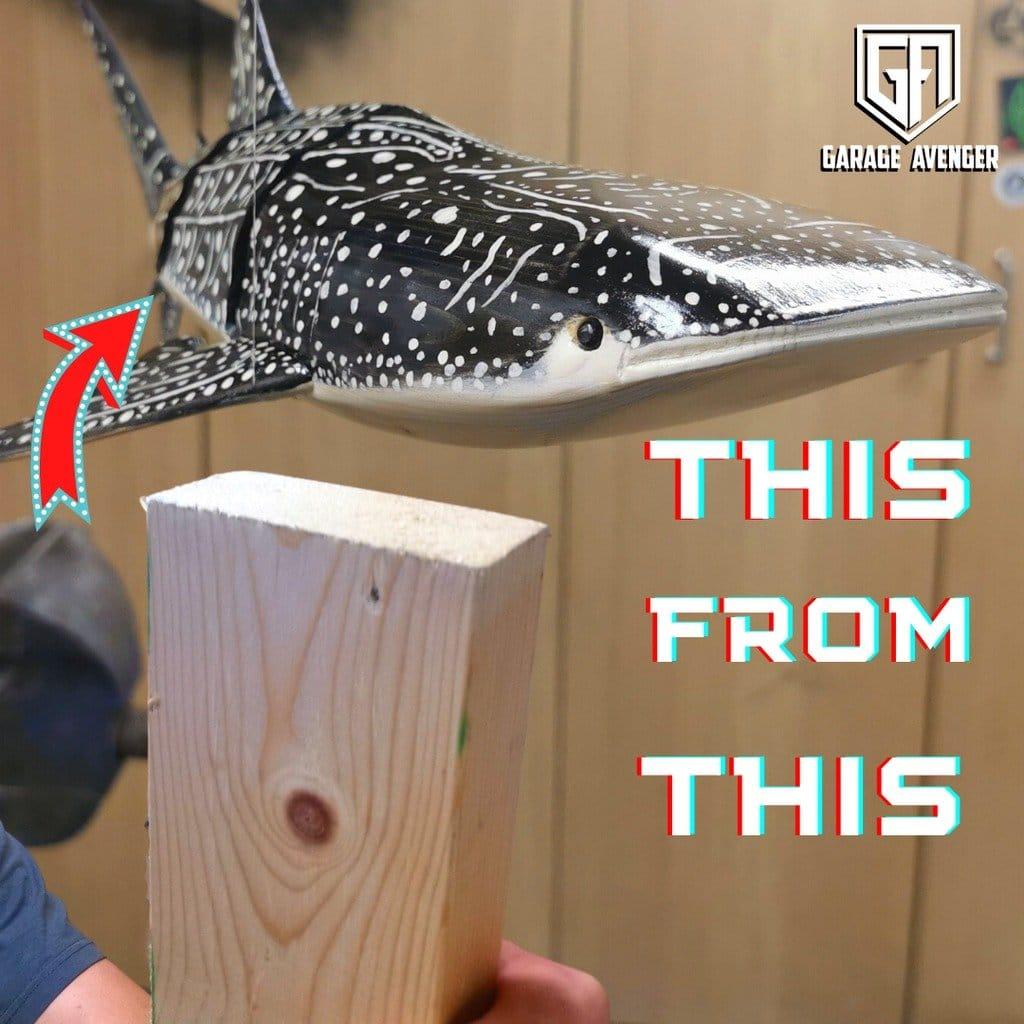 Как сделать китовую акулу с подвижным туловищем
