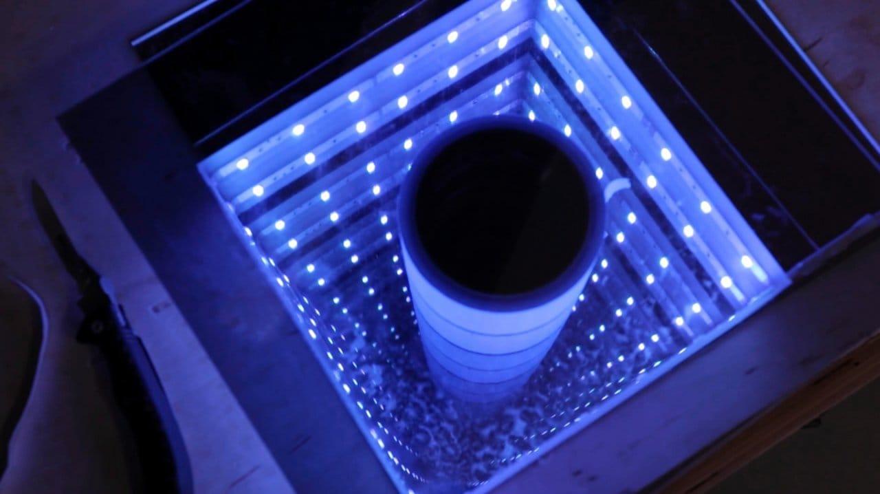 Как сделать светильник «бесконечное зеркало»
