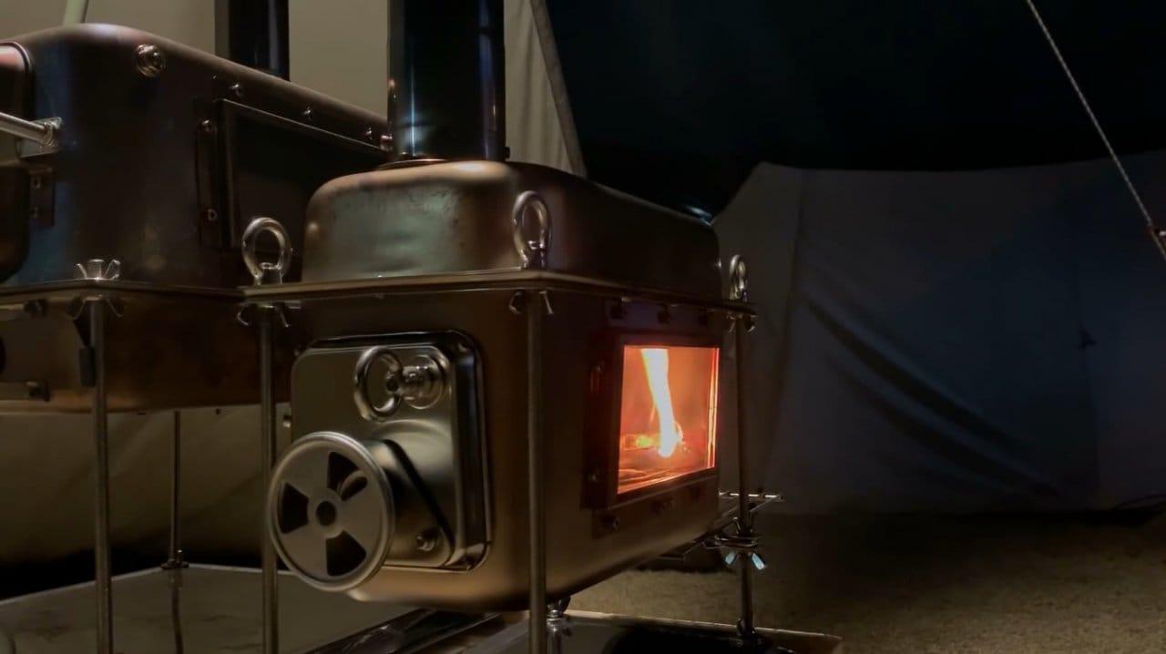 Туристическая дровяная печь (буржуйка для палатки) без сварки своими руками