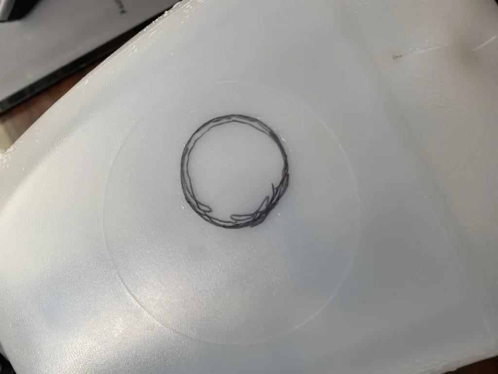 Медная заколка для волос с «зеркалом бесконечности»