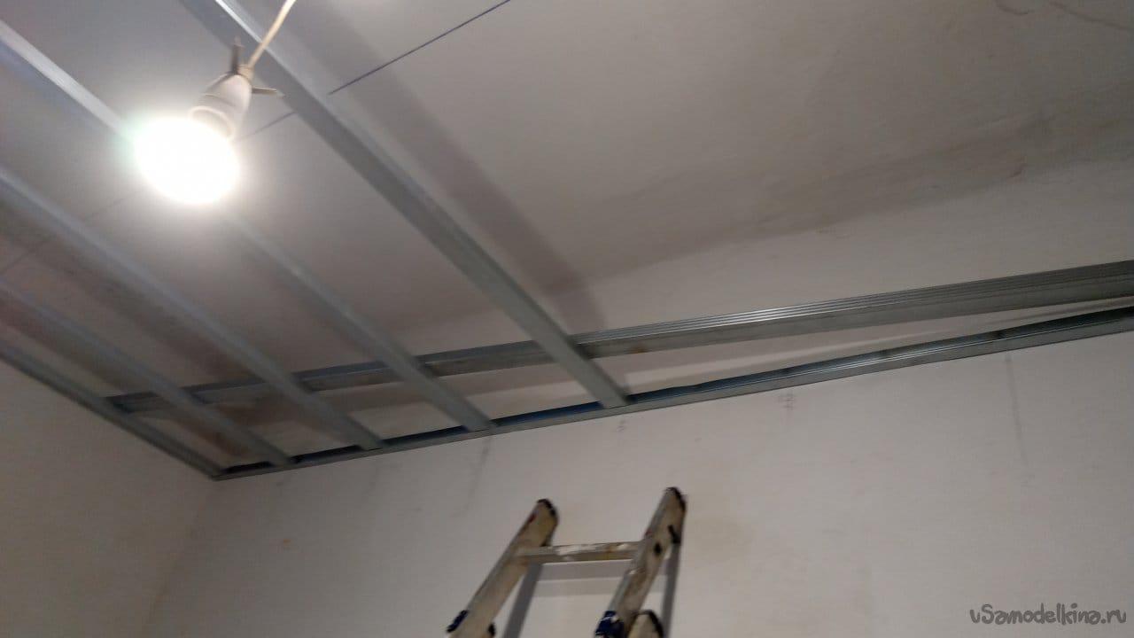 Подвесной потолок из гипсокартона своими руками