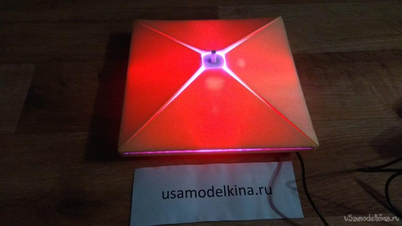 Светильник - ночник на четырех RGB светодиодах