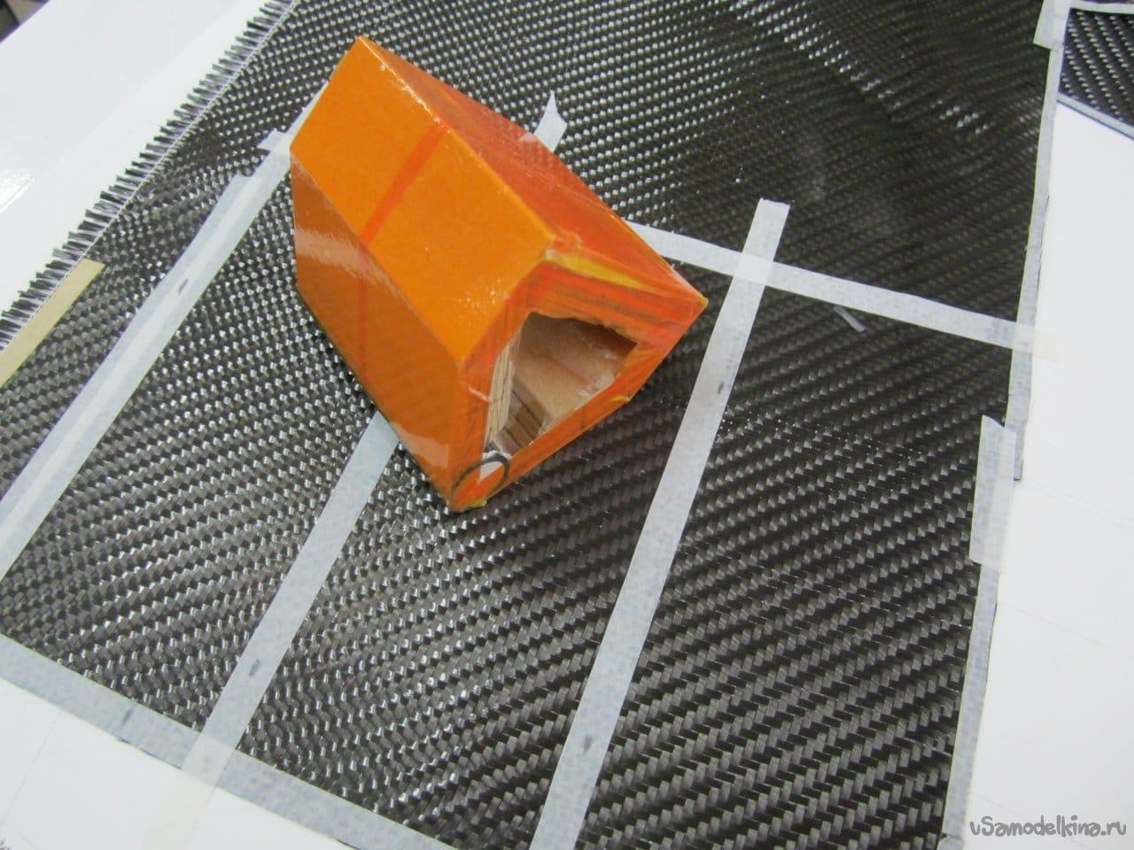 Закладка карбонового фюзеляжа планера класса F5J