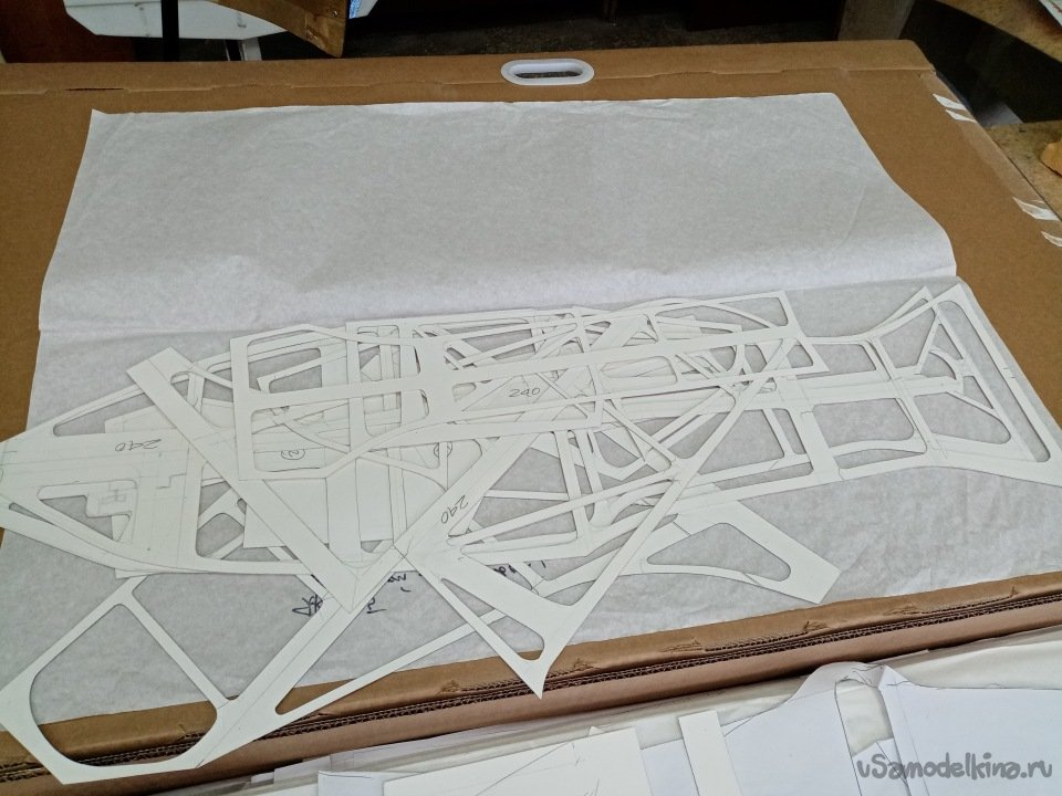 Самолет типа 240 «скелетон», прозрачный