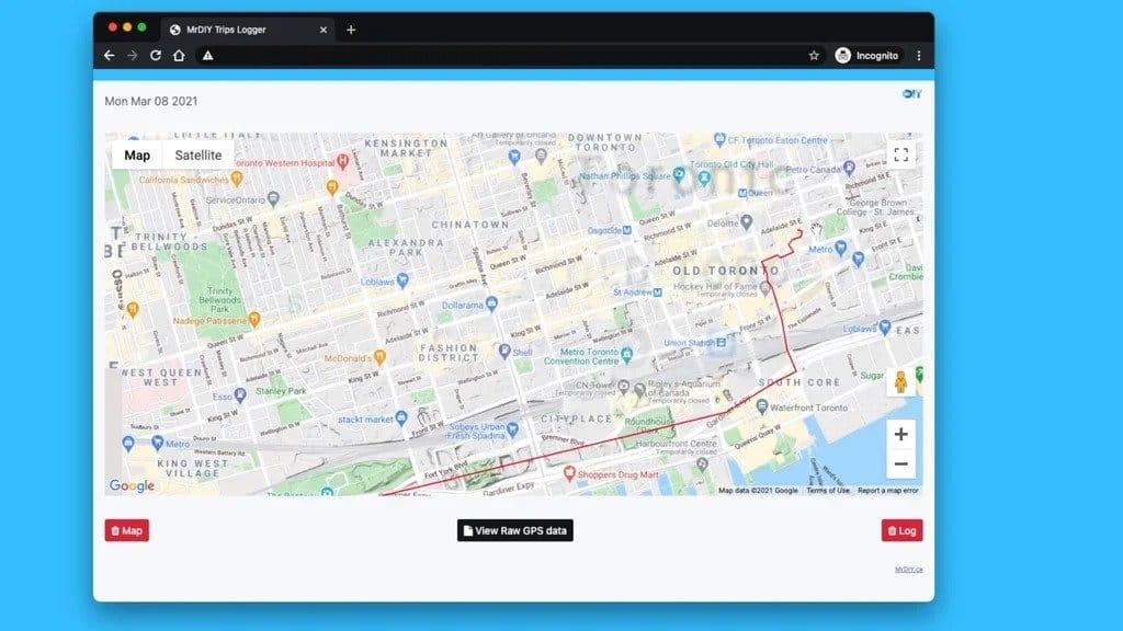 Запись и чтение маршрута автомобиля (без GPS)