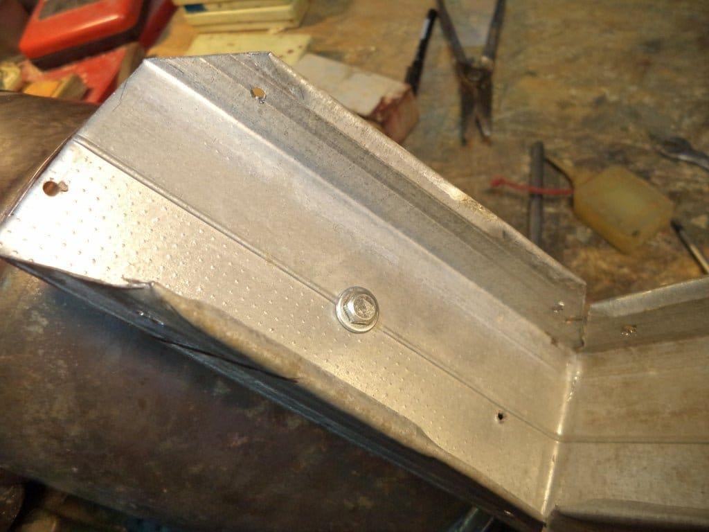 Ракетная печь из металлолома
