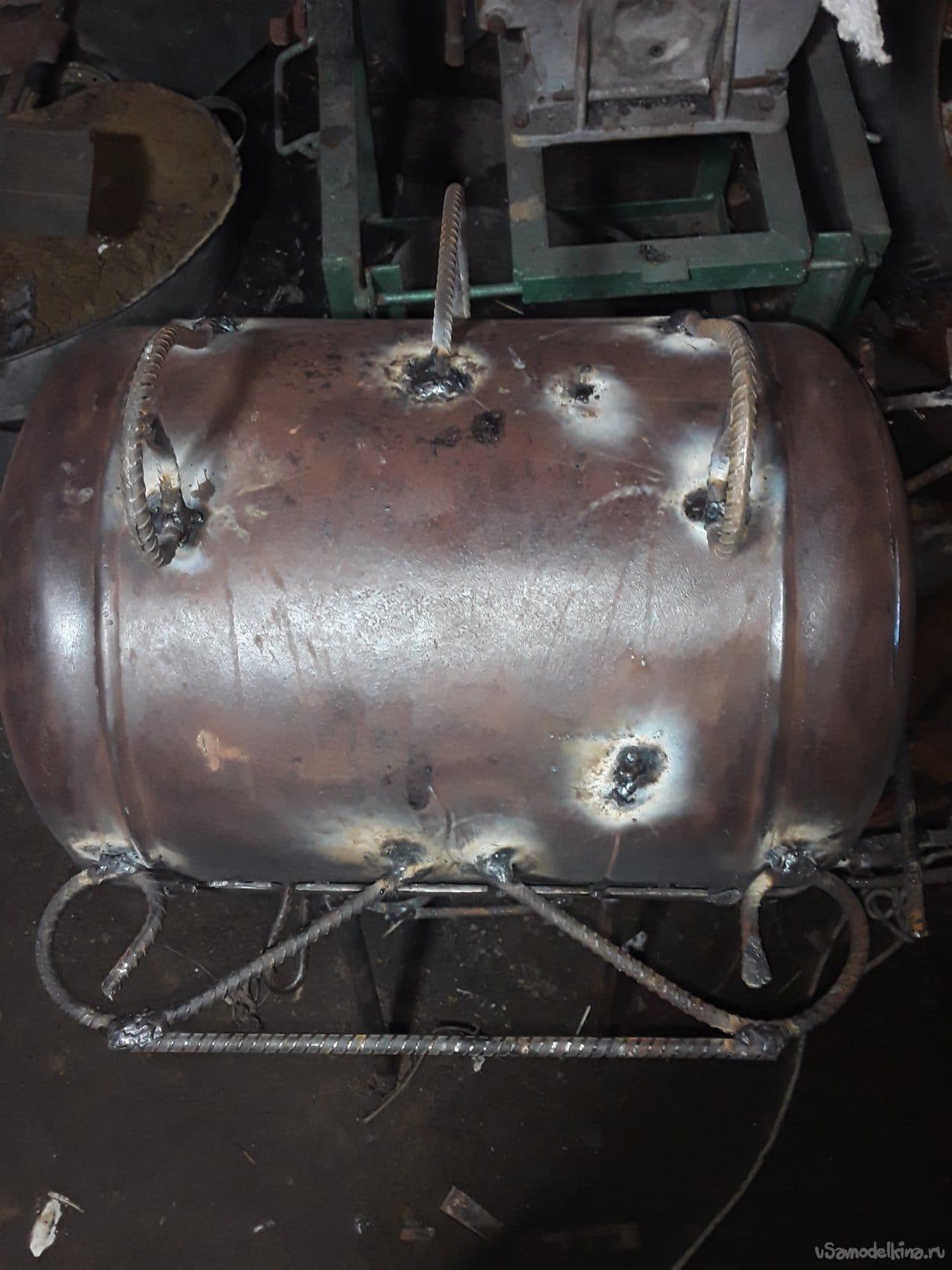 Мангал из газ баллона 27 литров