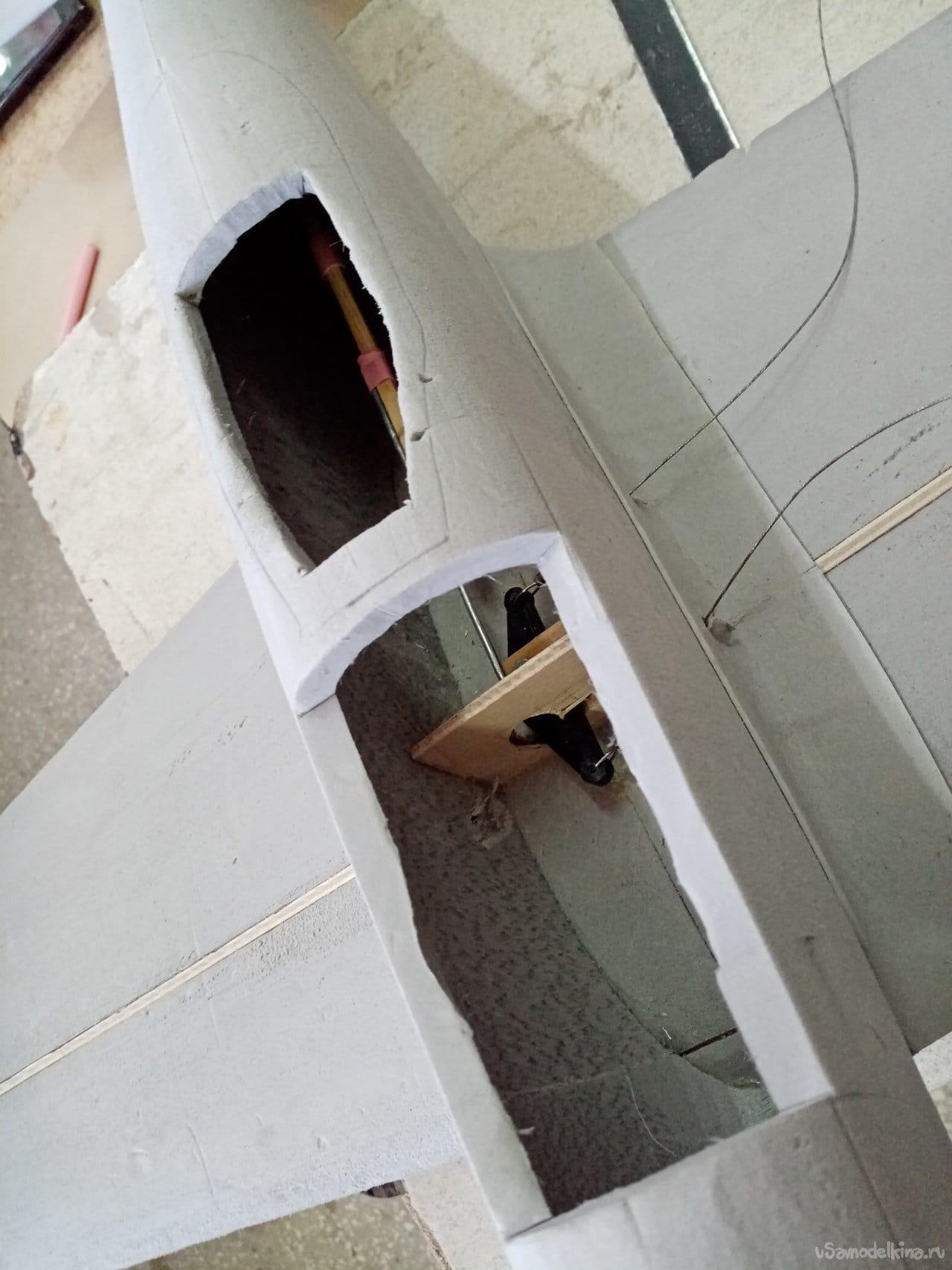 Кордовая модель самолета ЯК-3 Героя Советского Союза Марселя Лефевра
