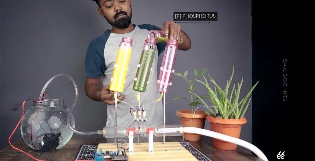 Демонстрационная модель автоматизация полива и внесения удобрений