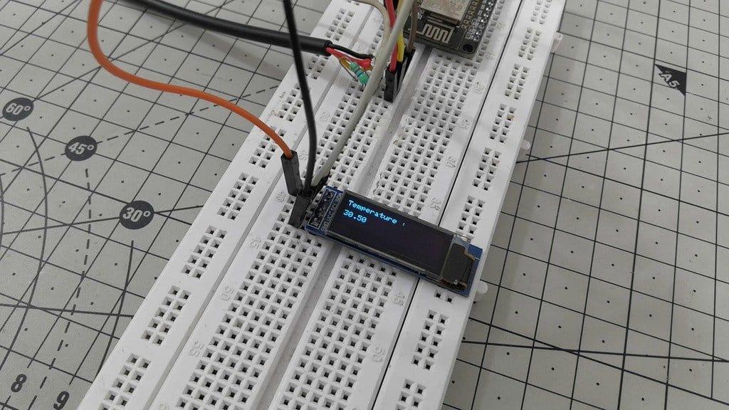 Контактный цифровой термометр на базе датчика DS18B20