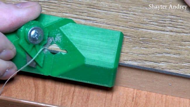 Как сделать рубанок для формирования фаски на виниловой плитке