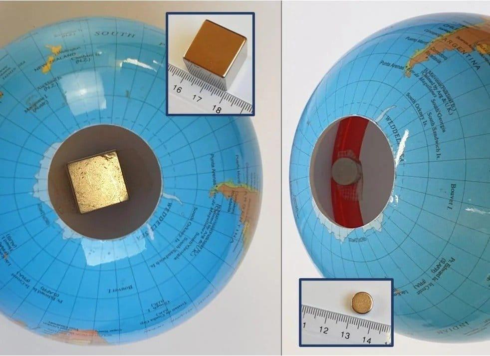 Левитирующий в магнитном поле глобус