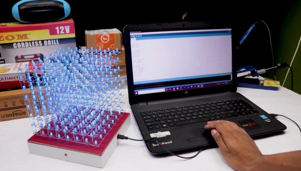 Собираем светодиодный куб с визуальными эффектами