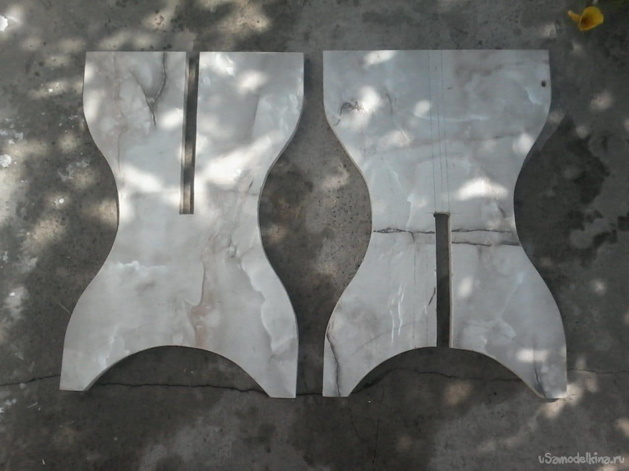 Табурет из старой мебели