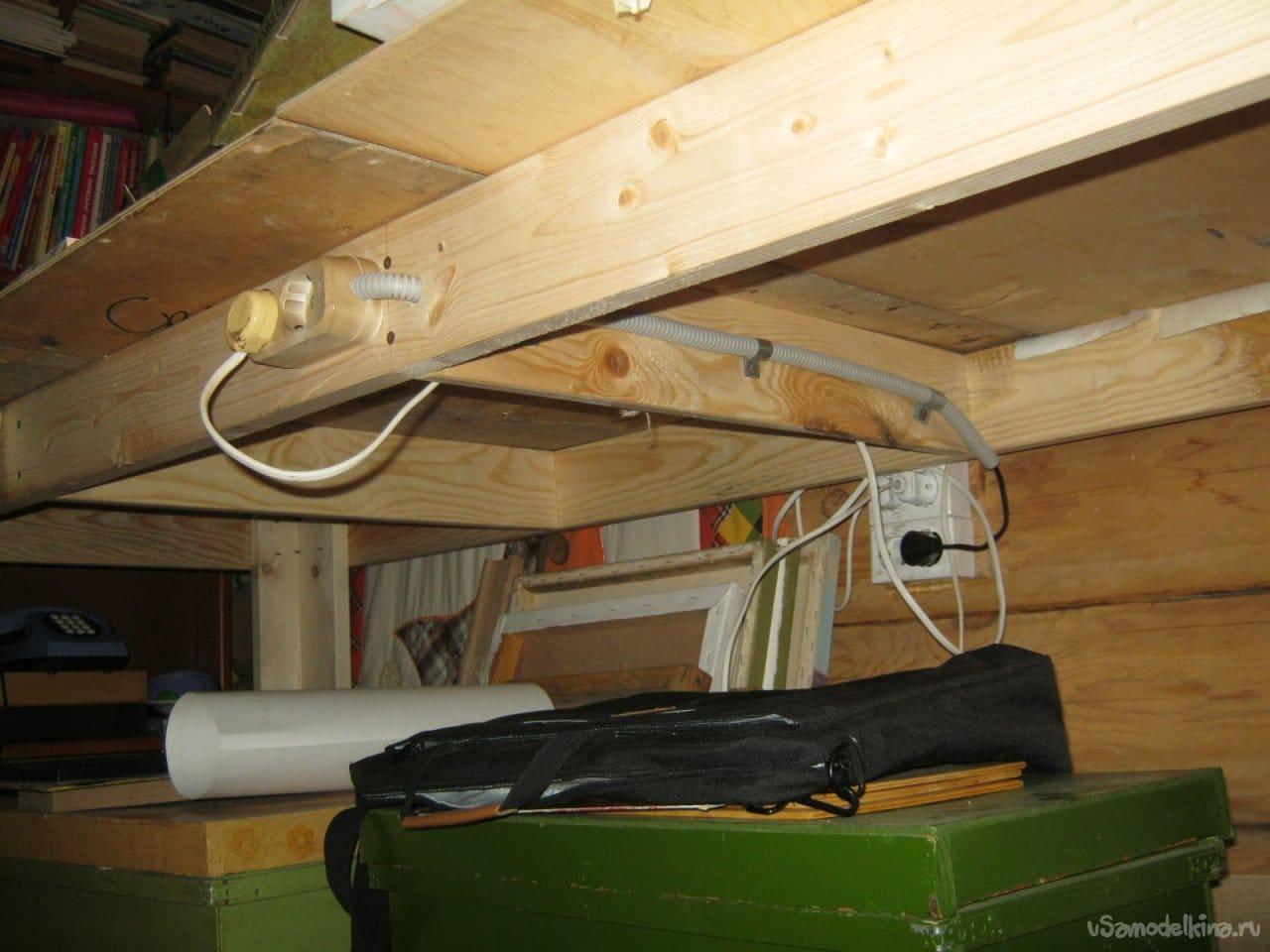 Простой утилитарный стол для домашней мастерской художника