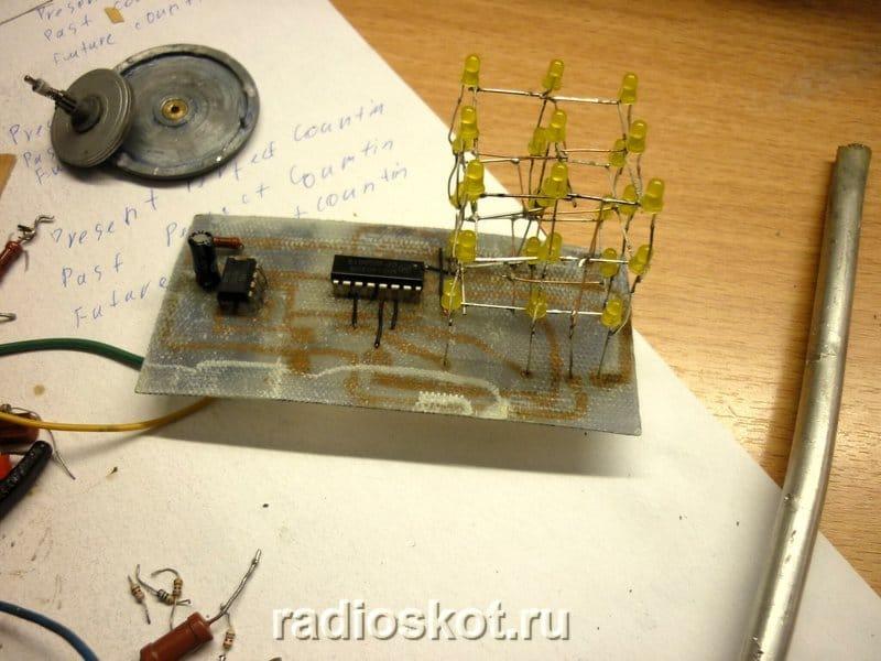 Светодиодный кубик на 27 светодиодов