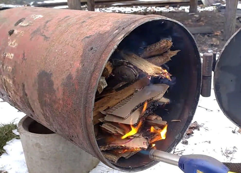 Печь буржуйка с хорошей теплоотдачей