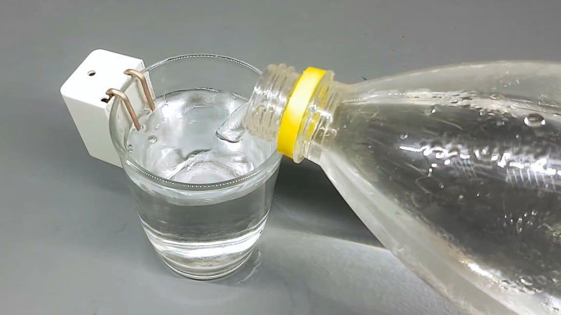 Простейший датчик уровня воды, затопления (со звуковой сигнализацией) своими руками