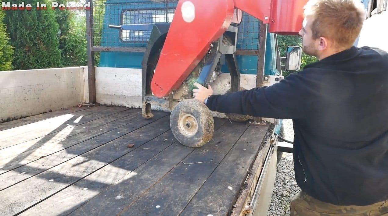 Самодельный кран для грузового автомобиля