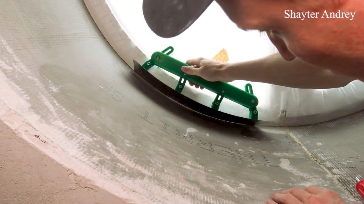 Как сделать регулируемую радиусную гладилку (для криволинейных поверхностей)