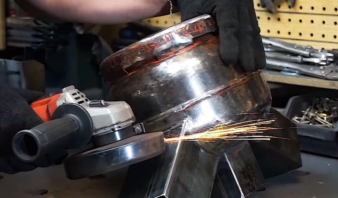 Дровяная печь для приготовления пищи из газового баллона