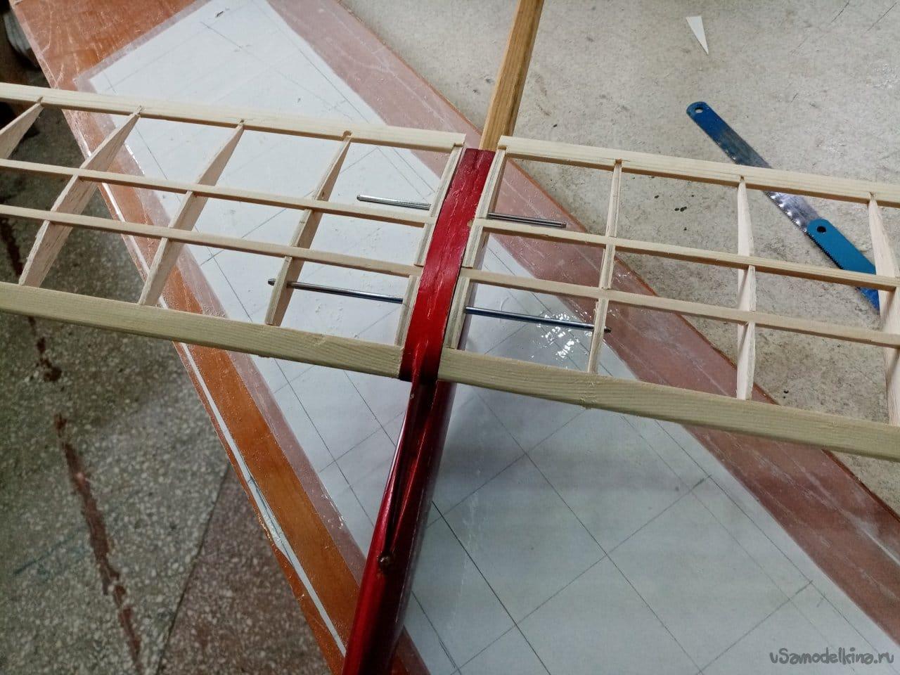 «Схематичка» на старом фюзеляже планера класса F1A