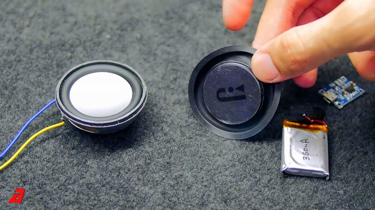 Как сделать миниатюрную блютуз колонку