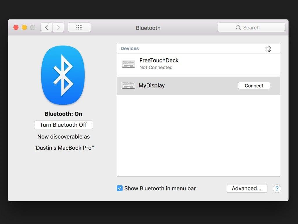 Системный монитор с передачей данных по Bluetooth