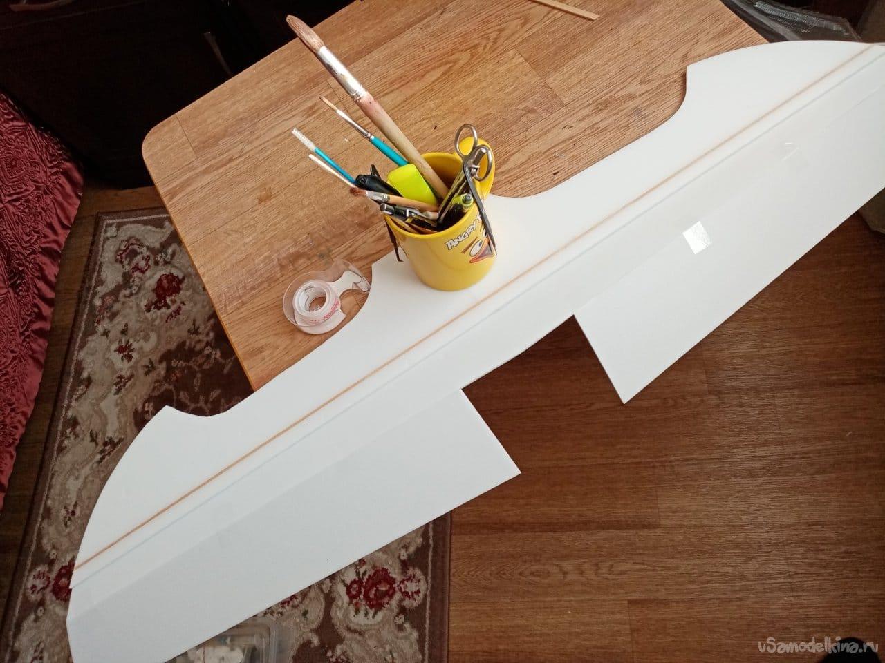 Самолет-крестолет для полетов на полянке