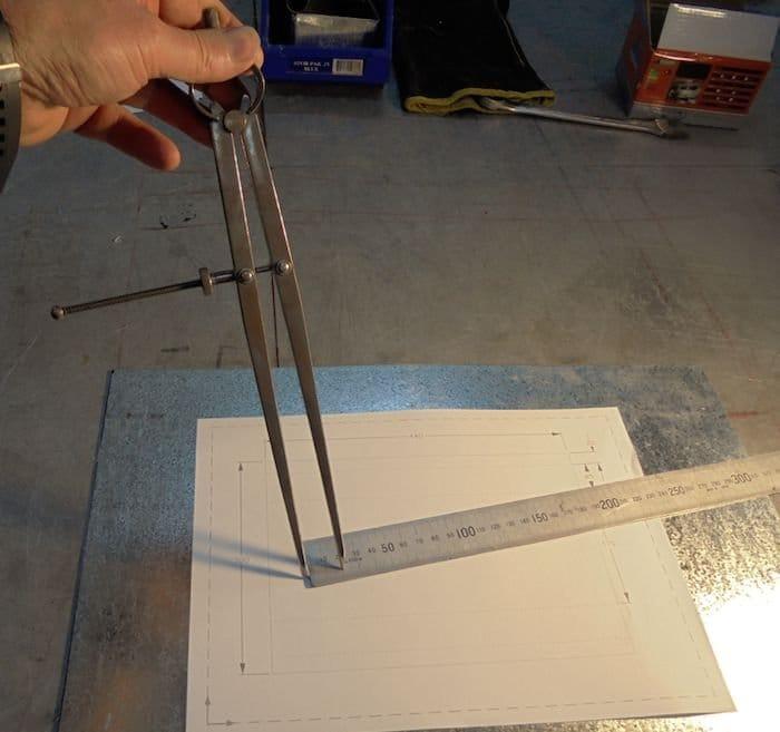 Ящик для инструмента из оцинкованного листа (с чертежами)
