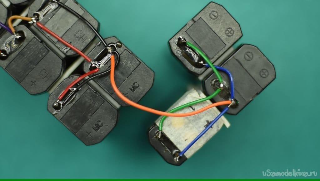 Аккумулятор в корпусе большой 9 вольтовой батареи