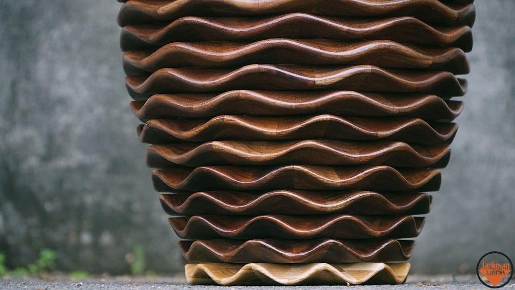 Ваза из дерева - «Волна»