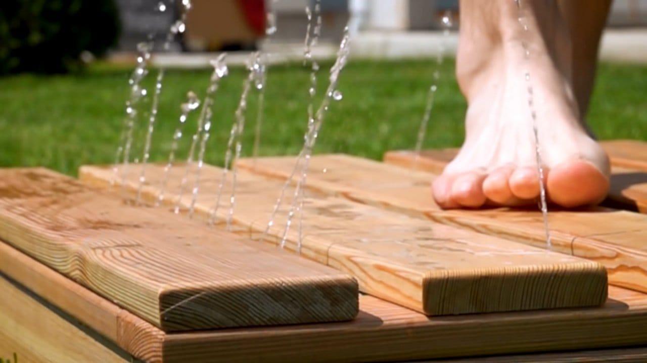Напольная душевая платформа (обратный душ) своими руками