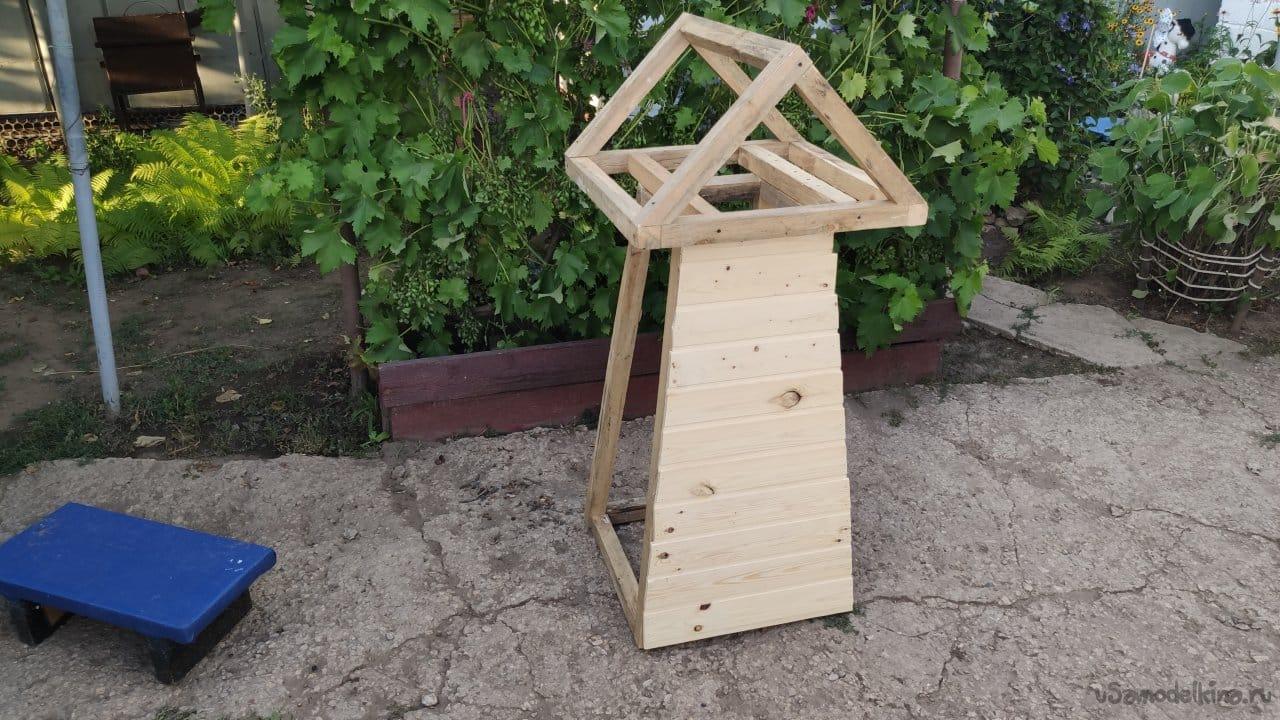 Декоративная садовая ветряная мельница своими руками