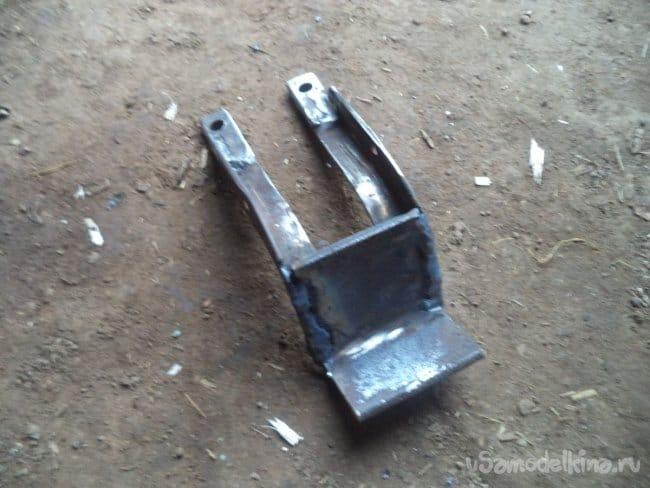 Самодельное сцепное устройство (фаркоп) для квадроцикла
