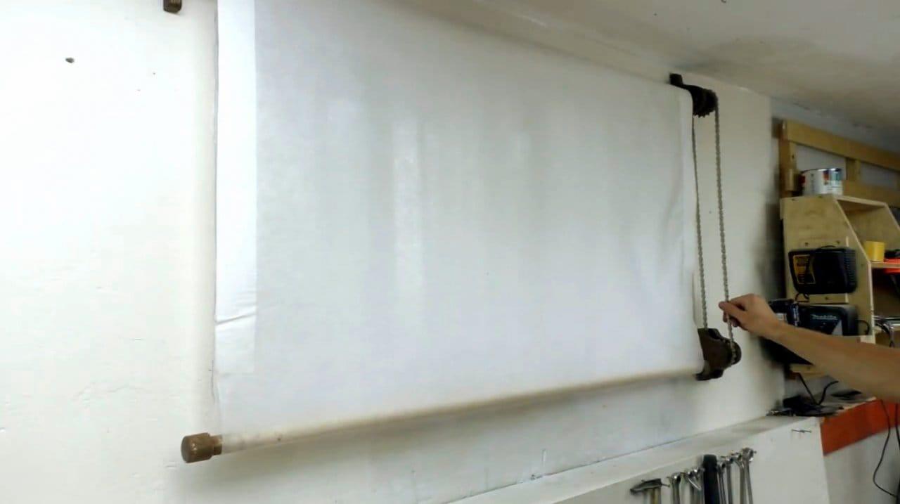 Тканевые ролеты на окна своими руками
