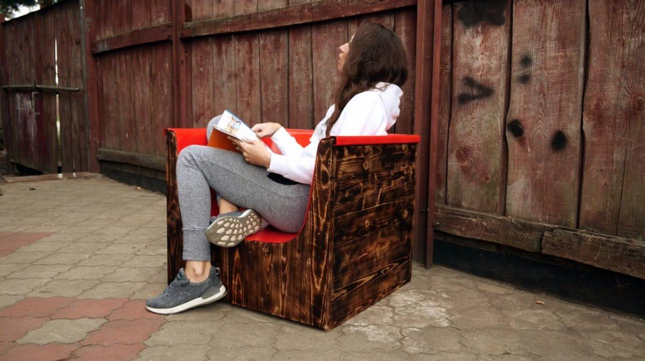 Садовое кресло из хлама своими руками