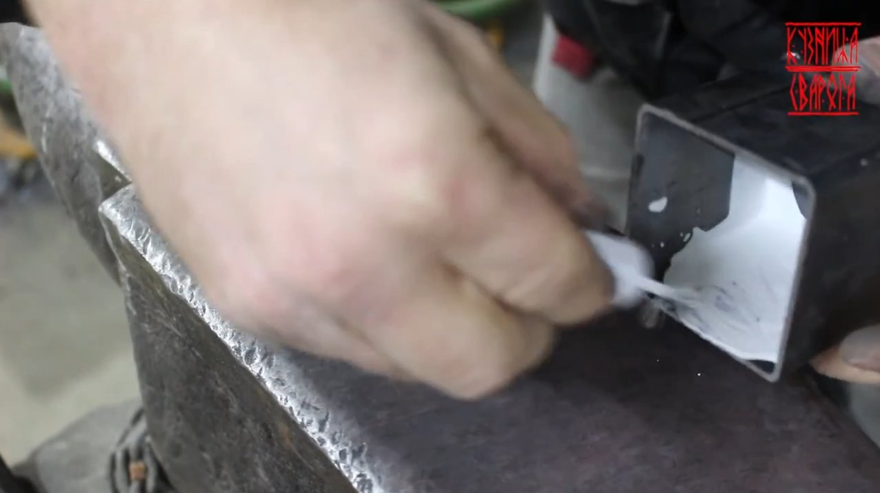 Forging a Damascus knife from roofing screws