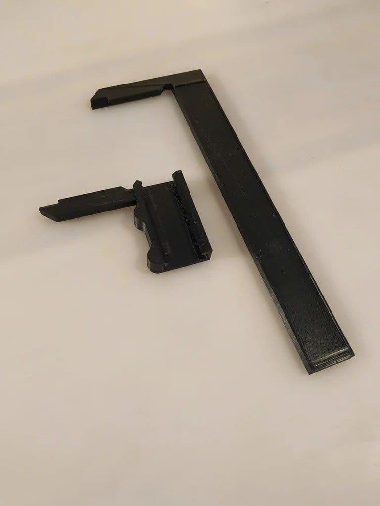 Caliper from the ruler + version for left-handed