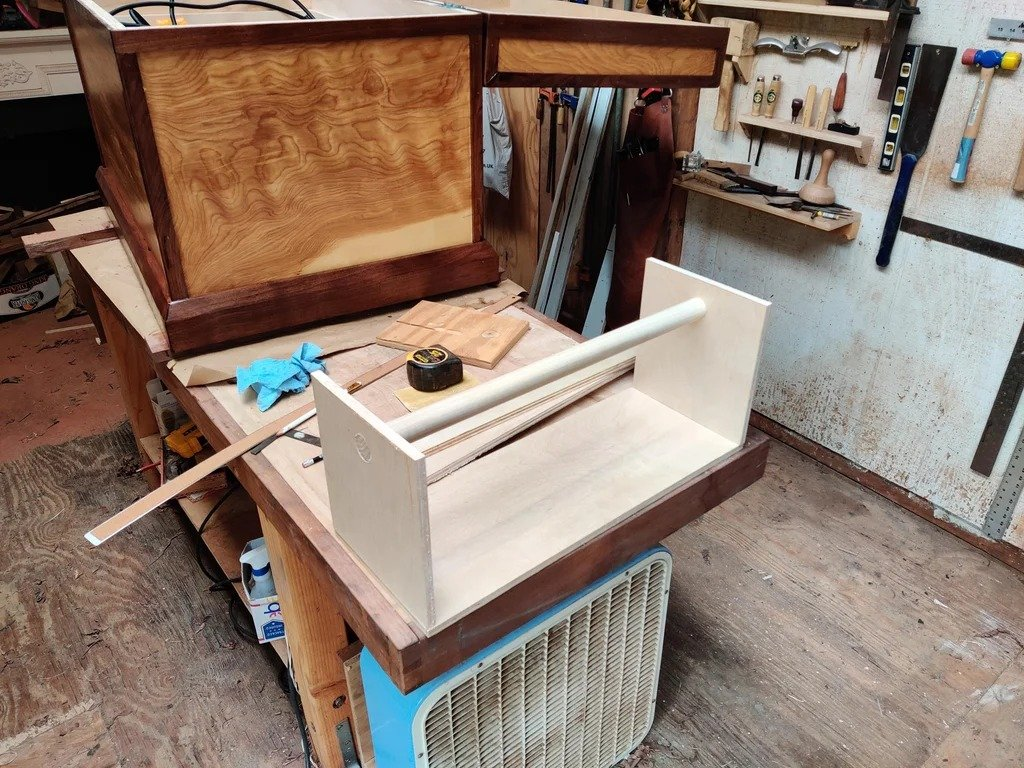 A simple plywood chest