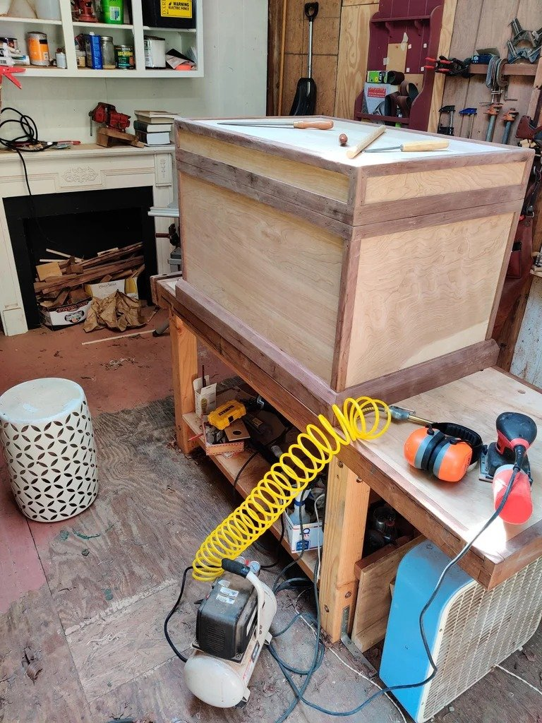 Simple plywood chest