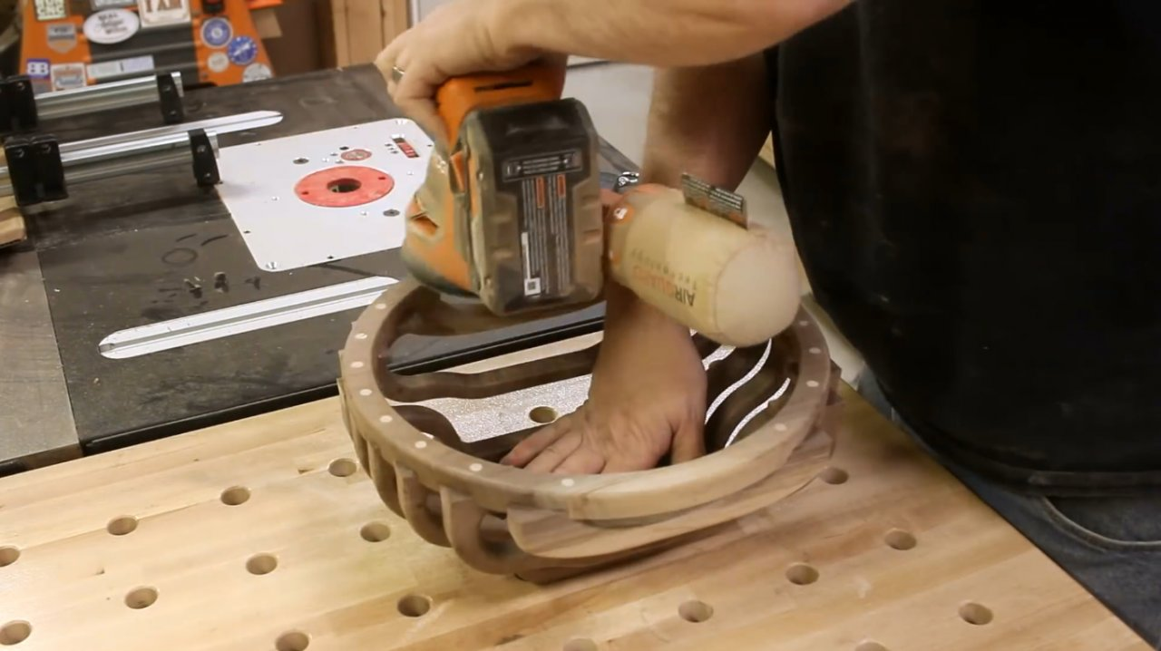 How to make an unusual bowl without turning