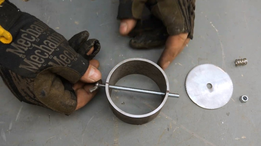How to make a portable wood stove for a cast iron