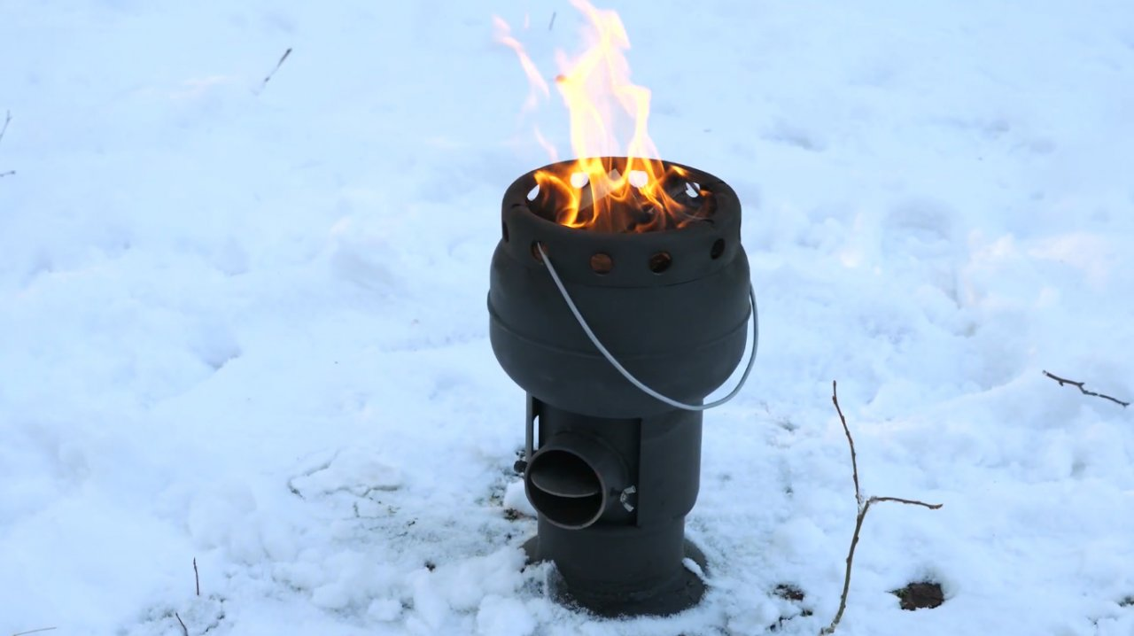 How to make a portable wood-burning stove for a cast iron