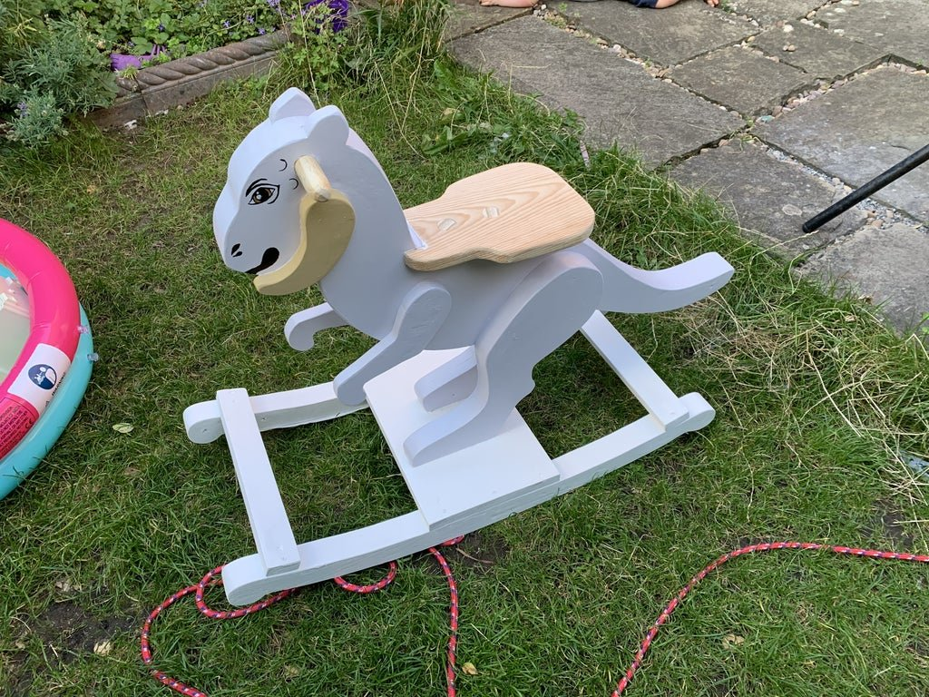 Children's wooden rocking chair from Tautown (in the style of star warriors)