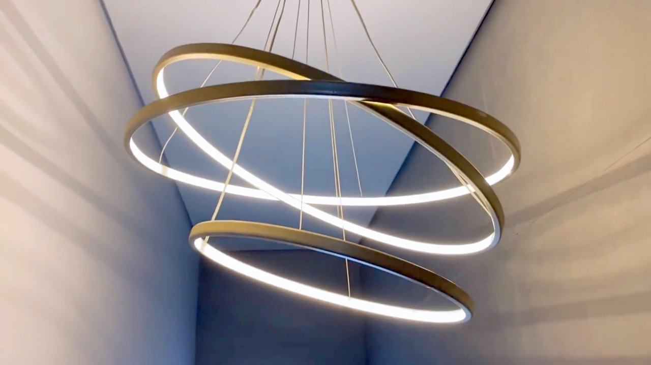 How to make a Saturn rings LED chandelier