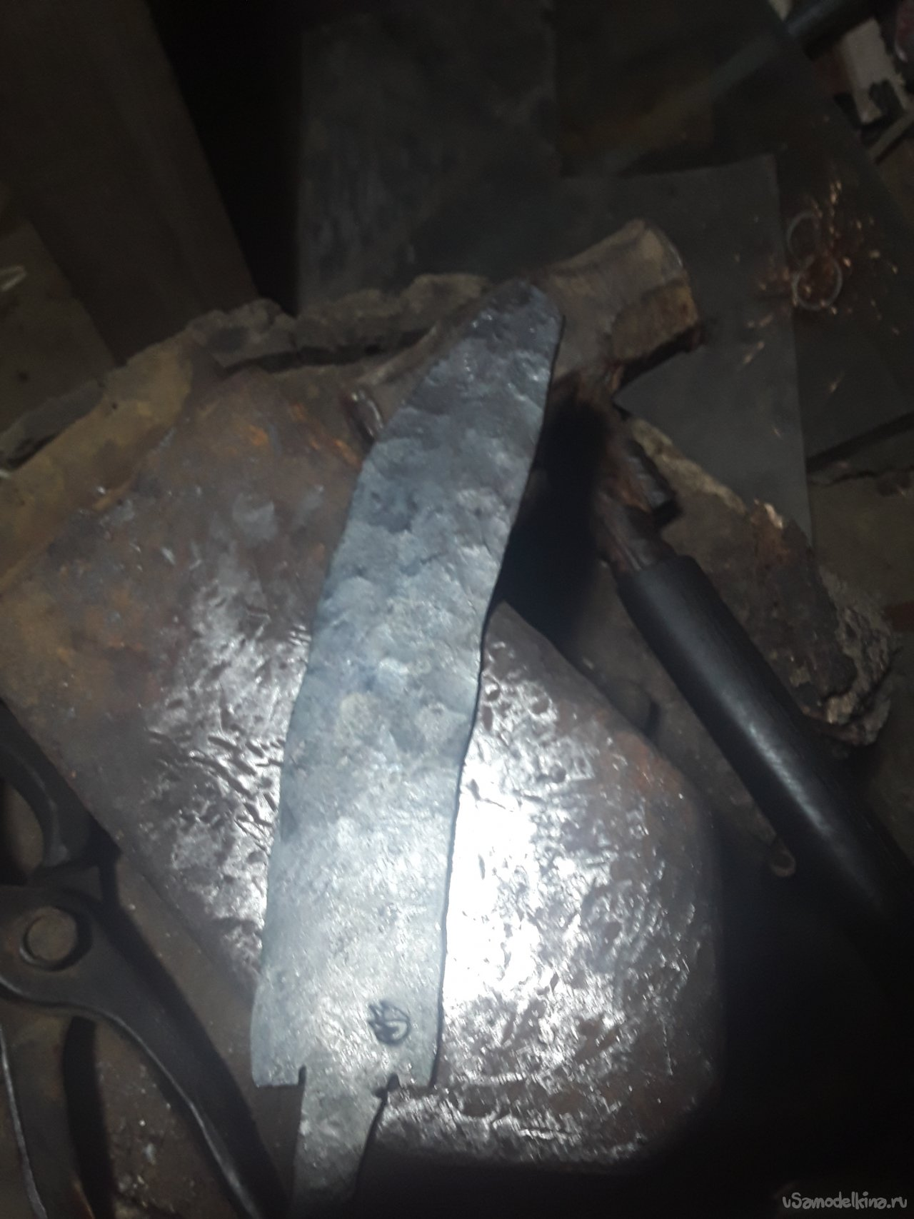 Forged spring knife
