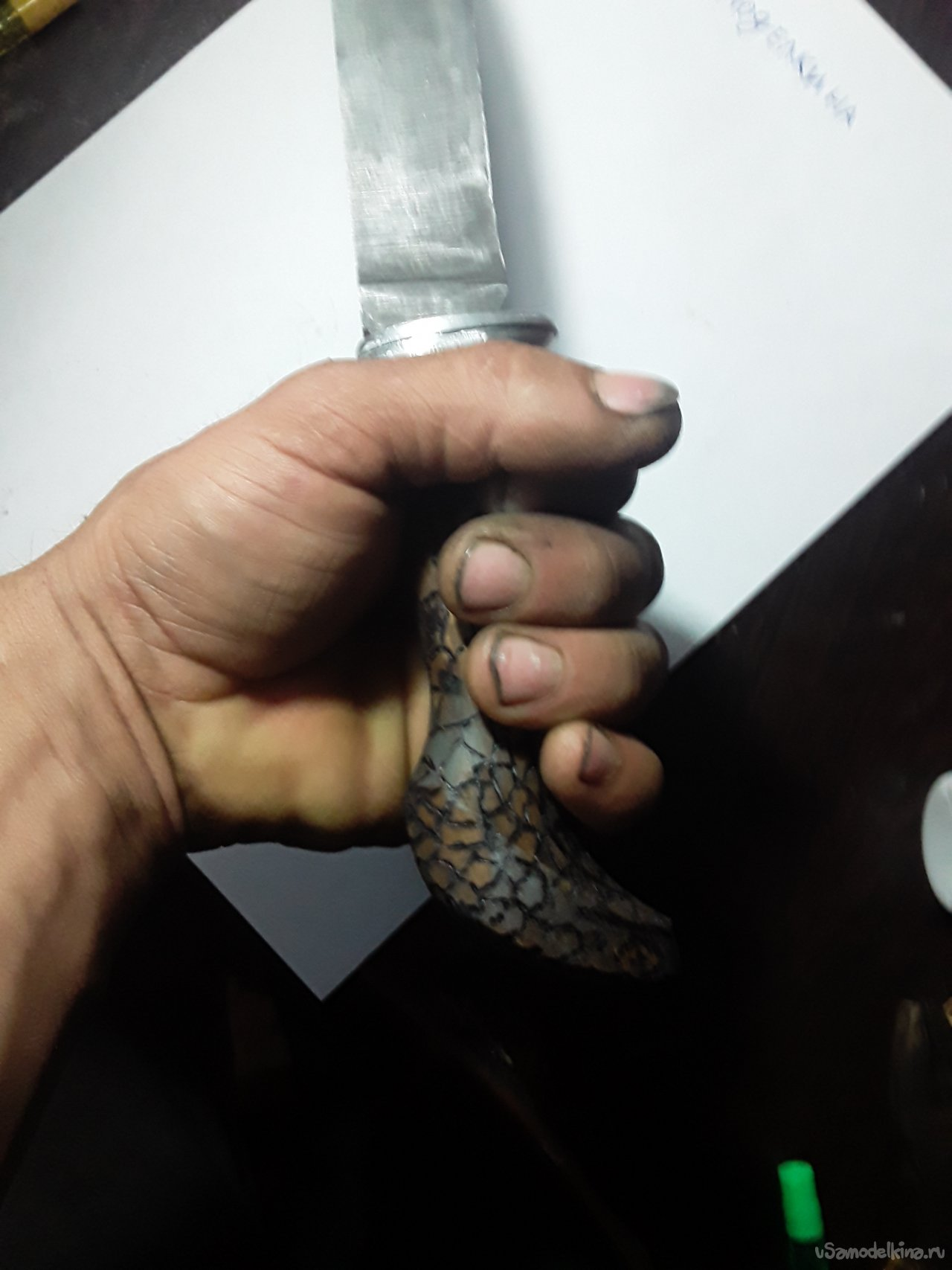 Spring forged knife